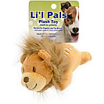 Li'l Pals 4.5 in. Plush Dog Toy, Lion, Brown