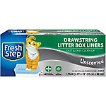 Fresh Step Drawstring Litter Box Liners, Jumbo, Unscented