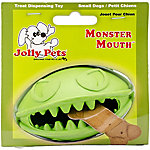 Jolly Pets Monster Mouth Ball, Green 3 in.