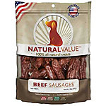 Loving Pets Natural Value Treats, Beef Sausages
