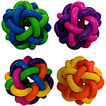 Multipet Nobbly Wobble Interwoven Ball, with Bell, Pack of 2, 1.75 in.
