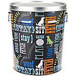 Paw Prints Tin Pet Food Container, Word Play