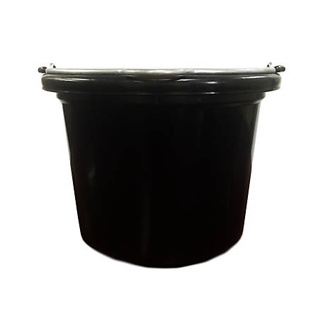 Fortiflex 8 Qt. Black Flat Back Bucket, 1301801