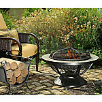 Sunjoy 30 in. Round Slate Top Fire Pit