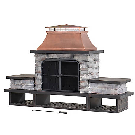 Sunjoy Stone Fireplace