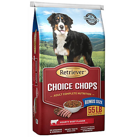 Retriever Retriever Choice Chops Dog Food, 55 lb. Bag