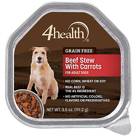 4health Grain Free Beef Dinner In Gravy With Carrots Dog Food 35