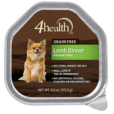 4health Grain Free Lamb Dinner Dog Food, 3.5 oz. Tin
