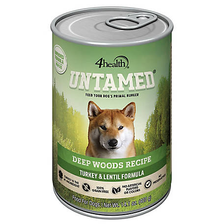 4health Untamed Deep Woods Recipe Turkey & Lentils Formula, 14.1 oz. Can