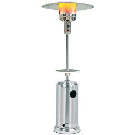 Sunheat Classic Umbrella Design Commercial Portable Propane Patio Heater with Drink Table, Stainless Steel