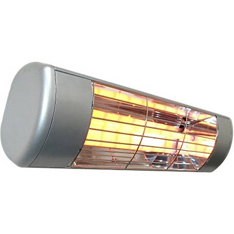 Sunheat Commercial/Restaurant Outdoor Weatherproof Electric Wall Mounted Heater, Silver, 1500W, 120V