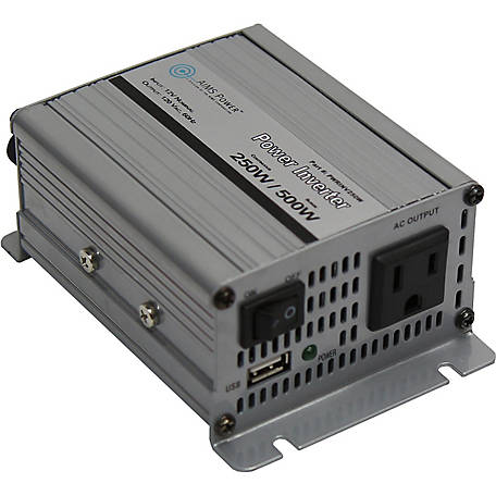 AIMS Power 250W Power Inverter, 12VDC to 120VAC