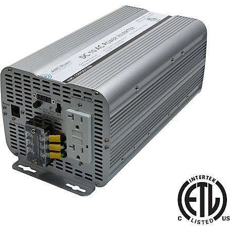 AIMS Power 3600W Modified Sine Power Inverter, 12VDC to 120VAC, ETL Listed