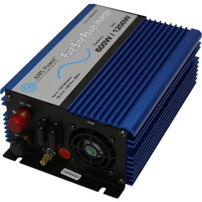Buy AIMS Power 600W Pure Sine Inverter; 12V to 120VAC Online