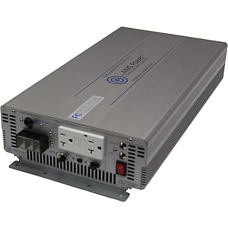 AIMS Power 2000W Pure Sine Power Inverter, 12VDC to 120VAC, Industrial Grade