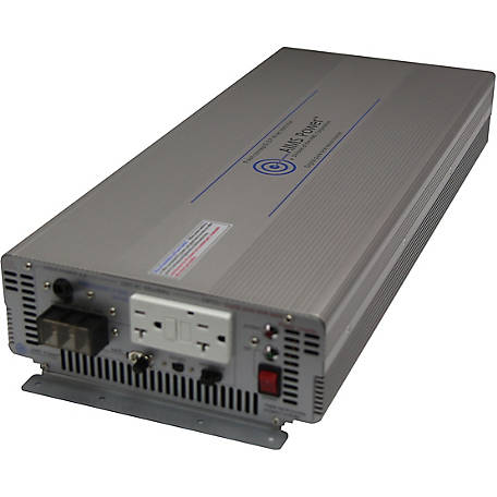AIMS Power 3000W Pure Sine Power Inverter, 12VDC to 120VAC, Industrial Grade