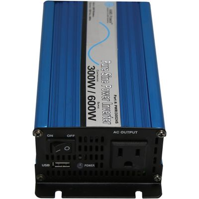 Buy AIMS Power 300W Pure Sine Power Inverter; 24V 120VAC; Includes Cables Online