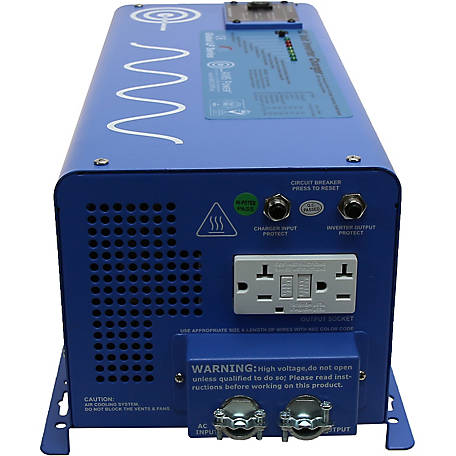 AIMS Power 3000W Pure Sine Inverter Charger, 24VDC to 120VAC
