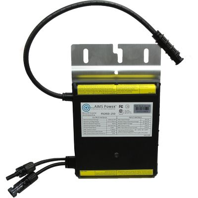 Buy AIMS Power 250W Micro Grid Tie Inverter with 20 ft. Trunk Cable Online