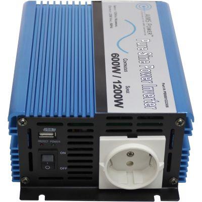 Buy AIMS Power 600W Pure Sine Inverter; 12V to 220/230VAC; European Online