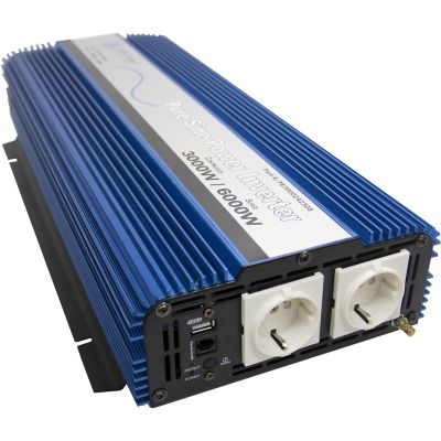 Buy AIMS Power 3000W Pure Sine Power Inverter; 24VDC to 220/230VAC; European Online