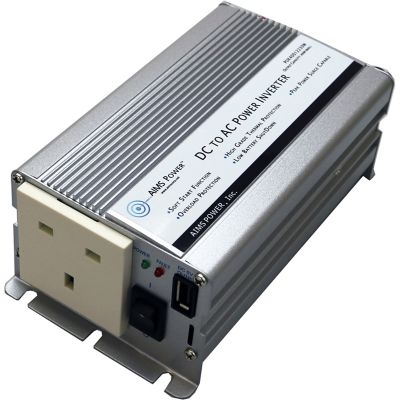 Buy AIMS Power 400W Power Inverter; UK Plug 230V; European with Cables 12V Online