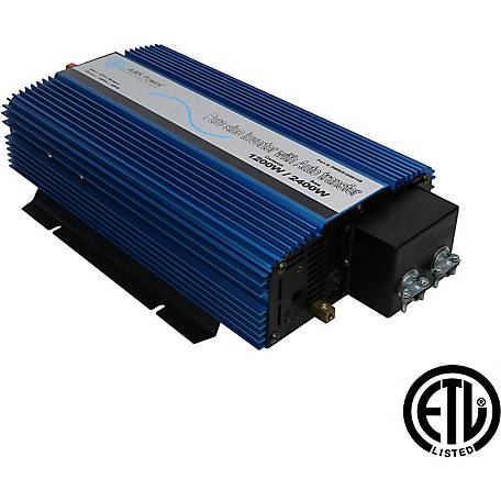AIMS Power 1200W Pure Sine Inverter with Transfer Switch, 12VDC to 120VAC, ETL Listed