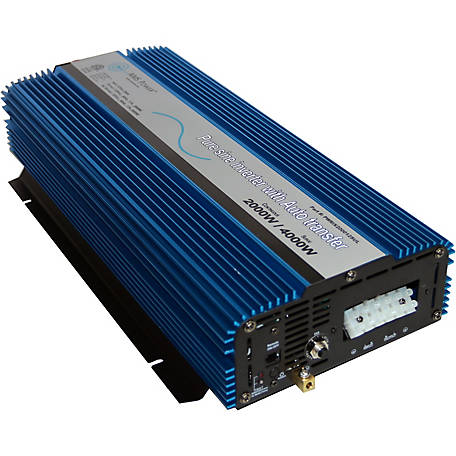 AIMS Power 2000W Pure Sine Inverter with Transfer Switch, 12VDC to 120VAC, ETL Listed