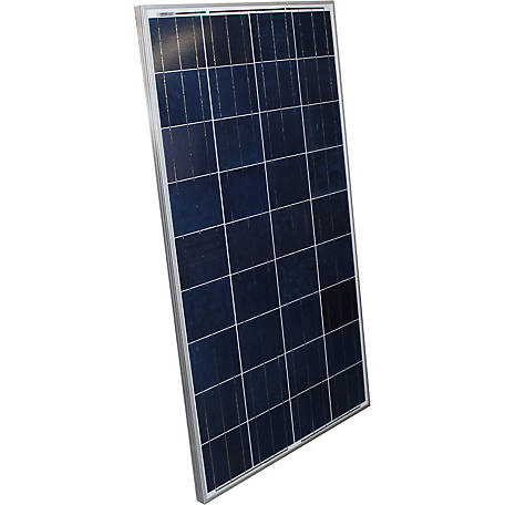 AIMS Power 120W Polycrystalline Aluminum Frame Solar Panel