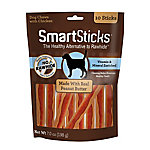 SmartBones SmartSticks Rawhide Free Dog Chews, Made with Real Peanut Butter, 10 Sticks