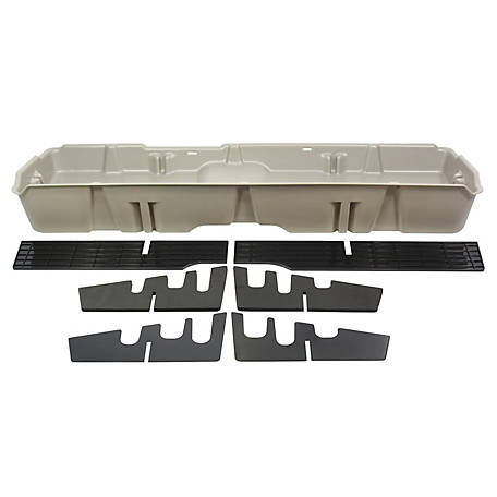 Du-Ha Storage Container for 07-13 Chevrolet/GMC Light Duty & 07-14 Heavy-Duty Crew Cab, Light Gray, 10043