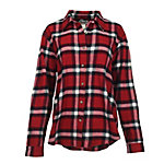 Wrangler Ladies' Long Sleeve Boyfriend Flannel Shirt