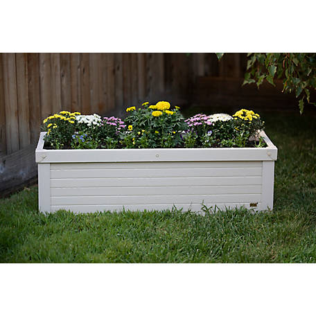 New Age Pet, Danville Rectangular Planter made with ECOFLEX- 48 in., EPLT203-R48