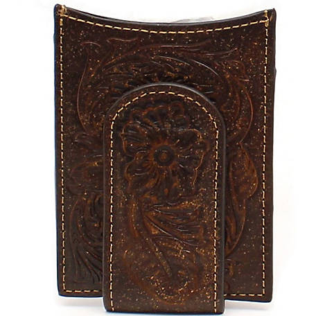 Ariat Money Clip with Floral Embossed