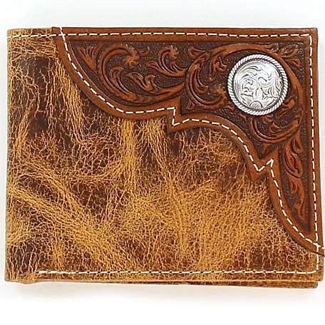 Ariat Bifold Wallet with Corner Overlay & Concho