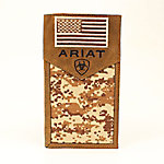 Ariat Rodeo Wallet, Patriot Camo with Flag