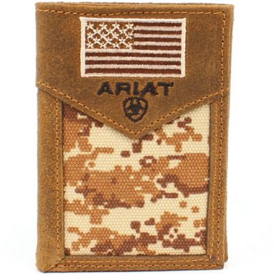 Ariat Trifold Wallet, Patriot Camo with Flag | Tuggl