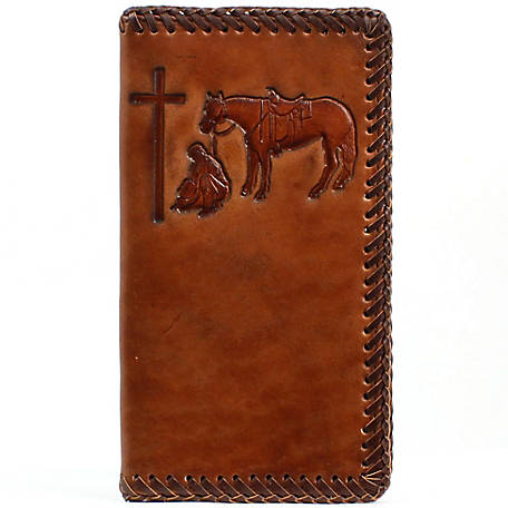 Nocona Rodeo Wallet, Cowboy Prayer with Laced Edge