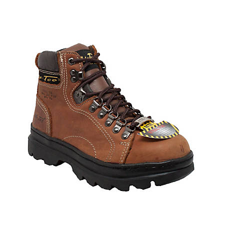 AdTec Women's 6 in. Brown Steel Toe Work Hiker Boot