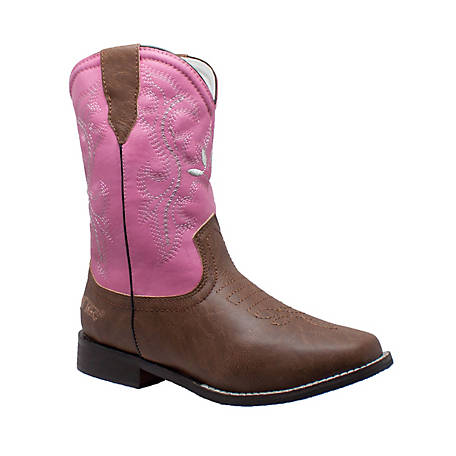 AdTec Kid's 8 in. Pink Western Pull On Boot
