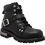 Ride Tecs Women's 6 in. Black Biker Boot