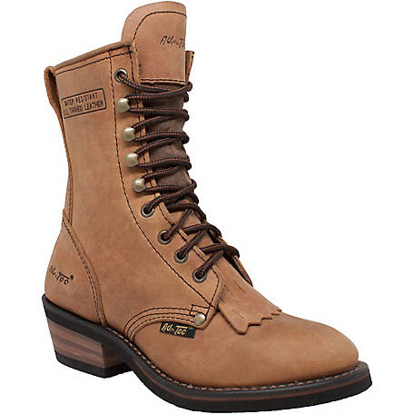 AdTec Women's 8 in. Brown Packer Boot