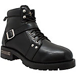 Ride Tecs Men's 6 in. Black Biker Boot