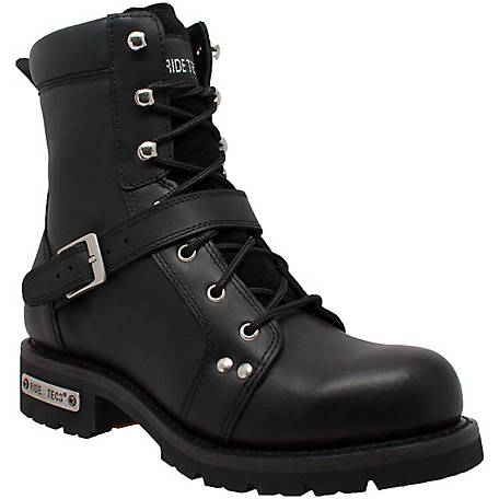 Ride Tecs Men's 8 in. Black Biker Boot