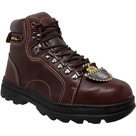 AdTec Men's 6 in. Brown Steel Toe Work Hiker Boot with Internal Metatarsal Guard