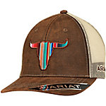 Ariat Men's Serape Longhorn Cap