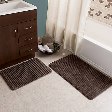 Lavish Home 2-Piece Memory Foam Bath Mat Set