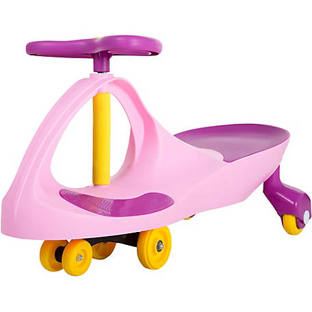 Lil' Rider Wiggle Car Ride-On, Pink and Purple