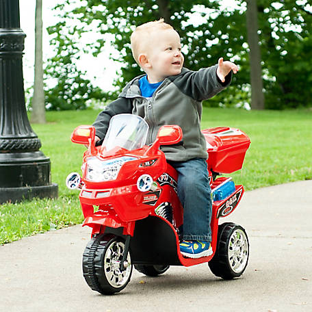 Lil' Rider Rockin' Rollers 3-Wheel Battery Powered FX Sport Bike Ride-On, Red