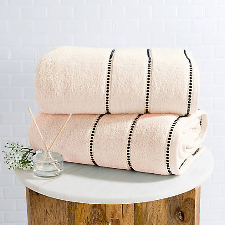 Lavish Home 2-Piece Luxury Cotton Towel Set